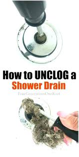 shower unclog clogged drain drano how to a if doesnt work tub and cleaner for small