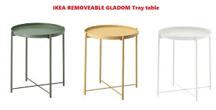 removeable ikea gladom tray table 45x53cm available in 3colours free fast post