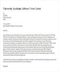 6 Sample Academic Advisor Cover Letter Free Sample
