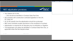 Lessons Learned On Nec From Adjudication Webinar