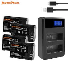 <b>Powtree For Canon</b> LP E6 Battery+USB Dual Charger Replacement ...