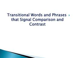 compare and contrast essay writing structure of comparison and  contrast essay