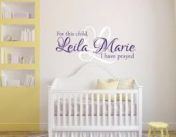 wall decal girl nursery for this child i have prayed wall decal girls name  wall zoom
