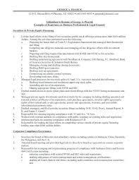 Resume Addendum Example