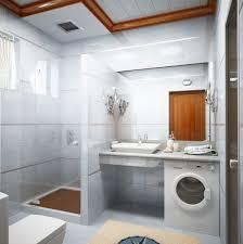 Bathroom:Vibrant Modern Bathroom Shower Inside Ultra Minimalist Bathroom  Idea With Washing Machine Modern Showers