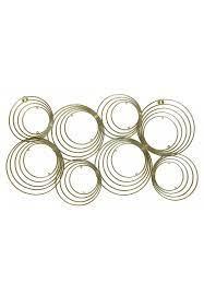 decors concentric circles gold