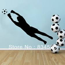 wall art designs soccer wall art football soccer goal keeper silhouette wall art stickers decal