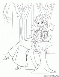 Small Picture Coloring page Queen Elsa of Arendelle