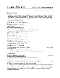 College Student Modern Resume Modern Resume Template Free Resume Templates For High School