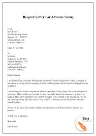 5 Free Request Letter Template For Salary Sample Example