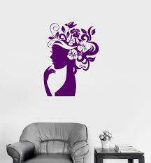 Vinyl Wall Decal Beauty Salon Woman