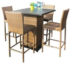 outdoor bar furniture set outdoor patio pub table set best of outdoor wicker pub table with
