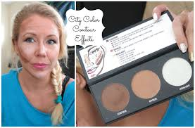 watch me contour for the first time with city color contour effects you