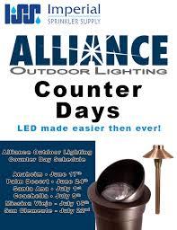 alliance outdoor lighting imperial sprinkler supply coaca