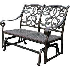 furniture retro metal porch glider design by darlee santa monica metal porch glider
