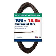 18 thermostat wire wire the home depot 2 Wire Thermostat Home Depot 100 ft 18 2 brown soild cu type cl2 thermostat wire Home Depot Line Voltage Thermostat
