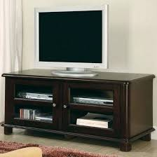 glass and wood tv stand wide slim espresso finish wood stand with glass front cabinet doors glass and wood tv stand