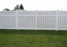 Vinyl fence Two Tone Vinyl Semi Privacy Fence 11 Seegars Fence Company Vinyl Fence