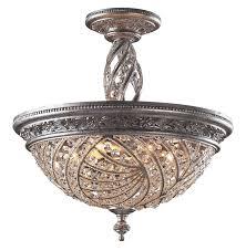 elk lighting 62336 crystal renaissance semi flush mount ceiling fixture regarding semi flush mount ceiling lights