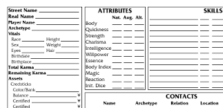 shadowrun 5 character sheet wordmans shadowrun sheets