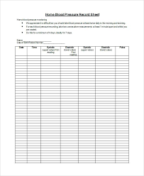 Free Sign In Sheet Template Blood Pressure Log Si On Nursing Flow ...