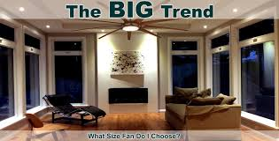 Ceiling fans sizes What size ceiling fan should I use