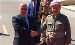 Afbeeldingsresultaat voor عکسی از حیدر العبادی نخست وزیر عراق و مسعود بارزانی