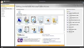 Ms Access 2007 Templates Download Creating A Database From Template Using Microsoft Access