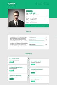 Free Resume Cv Web Templates Html Resume Samples Front End Developer Cv Template Design 28