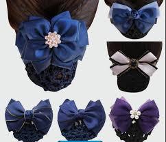 <b>Sweet Girl Satin</b> Bow Barrette Lady Hair Clip Cover Bowknot Bun ...