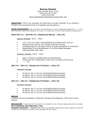 Job Resume Examples Restaurant Job Resume Sample resume Pinterest Job resume 5