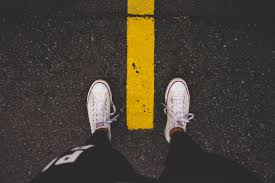 Image result for walking looking at feet