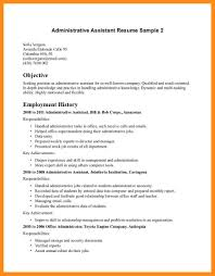 Sample Resume For Office Assistant Position 10 11 Resume Samples For Administrative Positions