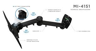 mount it lcd tv wall mount bracket with full motion swing out tilt and swivel articulating arm for 13 42 flat screen displays with vesa 75 to 200