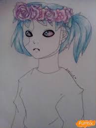 как нарисовать салли из игры Sally Face карандашами поэтапно