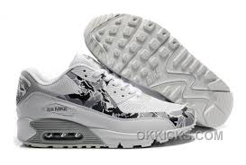 Nike Air Max 90 Hyperfuse Womens Shoes Grey Black White New Style Ei4atce