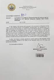 NBI ordered to probe Calbayog mayor ...