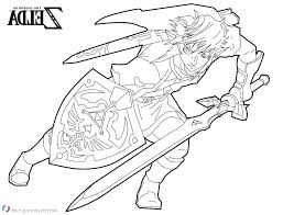 Legend Of Zelda Coloring Pages The Legend Of Coloring Pages Large