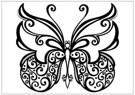 printable butterfly coloring pages. Beautiful Coloring Beautiful Spiral Butterfly Inside Printable Butterfly Coloring Pages B