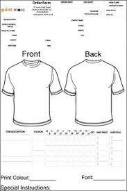 blank t shirt order form template word tshirt order form editable order form craft business and heat