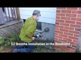 dryer vent through brick wall