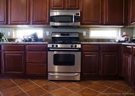 17 traditional dark wood cherry kitchen