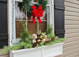 Christmas Decorations For Window Boxes Easiest Christmas Window Box Idea EVER Hometalk 2