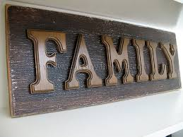 wooden letter family sign crafts by