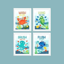 fish bathroom decor kids fish bathroom decor kids bathroom wall art ocean theme bathroom wash flush fish bathroom decor kids