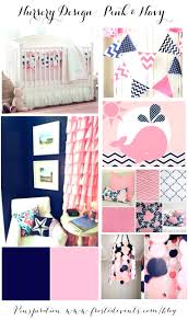 pink whale crib bedding nursery design and navy blue set