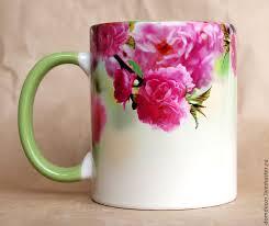 "<b>Чашка</b> ""<b>Цветущая сакура</b>"" – купить на Ярмарке Мастеров ..."