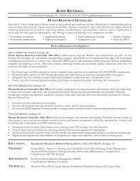 Sample Human Resources Manager Resume Resume Sample For Hr Manager