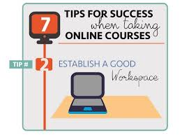 online learning tip establish a good workspace