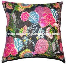 24x24 Indian Kantha Pillow Cover Kantha throw Pillow cushion Cover K